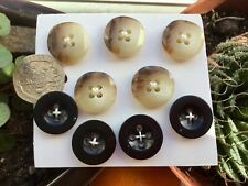 5 18mm Marble Effect buttons + Black 4 x 17mm 4-hole Suit Knits/Jacket/Dresses