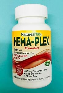 Hema Plex by Nature's Plus - 60 Mixed Berry Chewables, 85 mg, 15% off on 2nd