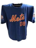New York Mets Blue Mens T-Shirt XL 08 Shea Stadium 1964-2008 GULF
