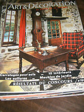 Art et Décoration N°164 1972 Les sulfures Grange Le lorrain Corrèze Déco Vintage