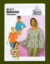 Peasant Blouse Sewing Pattern~Raglan Bell Sleeves (Sizes L-XXL) Butterick 6455