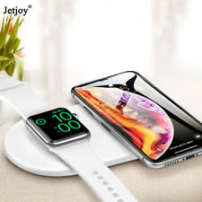 2 IN 1 QI Wireless Charger Fast Charging Pad For iPhone 11 Apple Watch 5/4/3/2/1