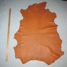 Soft Burnt Orange Sheepskin Leather Hide