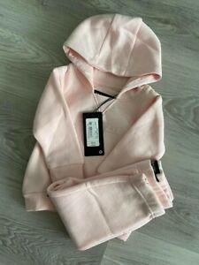 McKenzie Baby Girls Pink  Essential Crew Soft Fleece Hooded Tracksuit Infant