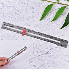 1X 15cm Hemline sewing gauge ruler cloth sewing measure gauging tailoring toolTB
