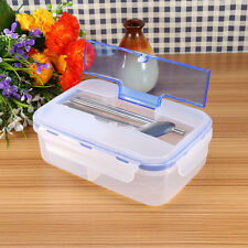 Microwave Lunch Box Picnic Bento Food Containers Spoon Chopsticks Storage Uk