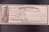 Columbus & Xenia Railroad Co 1926 Check Columbus Ohio Train Graphics
