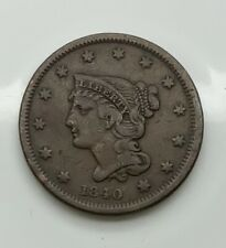 1840  Large Cent  Pleasing  Mid Grade Coin Strong Devices Nice Colour