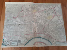 Antique Bacon's London atlas double page London Eastern Sheet
