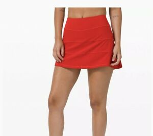 NWT Lululemon PACE RIVAL SKIRT * Dark Red * 6 Tall