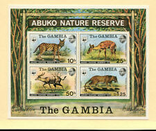 Gambia Fauna Wildlife WWF Scott 344a Souvenir Sheet Never Hinged