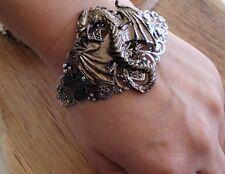 Vintage Steampunk Dragon Drago Medieval Retrò Bracciale Bracelet Gothic ornate