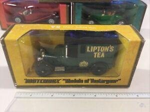 VINTAGE MATCHBOX MODELS OF YESTERYEAR Y5 GREEN 1927 TALBOT VAN LIPTONS TEA MOY