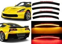 For 2014 - 2020 C7 CORVETTE SMOKED LENS LED SIDE MARKERS FRONT & REAR SET