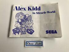 Notice - Alex Kidd In Miracle World - Sega Master System SMS - PAL EUR