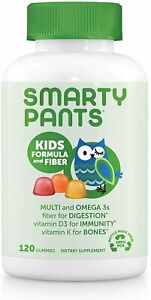 SmartyPants Kids Formula & Fiber Daily Gummy Multivitamin: Fiber for...