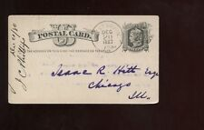 US Postal Card with Great Dated Cancel 1880 West Union, Iowa to Chicago Illinois