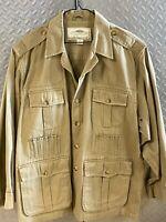 Mens BOYT Harness Co Hemingway Safari Field Hunting Jacket Khaki • Coat Size 2XL