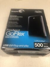 Seagate FreeAgent GOFlex - 500 GB - External Hard Drive Portable HDD - Black