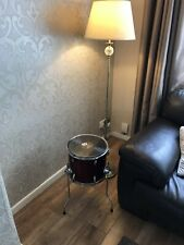 Upcycled Drum Coffee Occasional Table Retro Vintage With Record Vinyl LP Top.