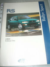 Ford RS range brochure 1993 Ed 2 RS Escort Cosworth, Fiesta RS1800