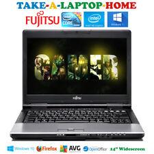 "Fujitsu 14"" Windows10 Laptop Core i5 3.1GHz Quad Thread Gaming HD Cam WiFi Fast"