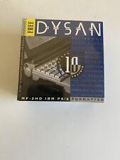 """Dysan MF-2HD Disquettes 3.5 """" IBM Ps/2 Formaté 10 Paquet + Rangement Étui, Neuf"""
