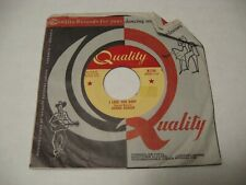 **Donnie Bowser/ I Love You Baby b/w Stone Heart/ Quality/ 1958 / Canada