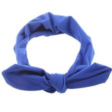 Women Fashion Elastic Stretch Plain Rabbit Bow Style Hair Band Headband Turban