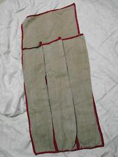Vintage Red Trim Umbrella bag Holder Linen Pocket for 3 Antique VGC