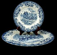 Johnson Brothers Coaching Scenes Dinner And Bread nButter Plate Set Of 2 England