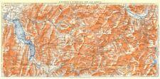 Savoie. d'annecy à stgervais par les aravis 1925 ancienne vintage carte plan graphique