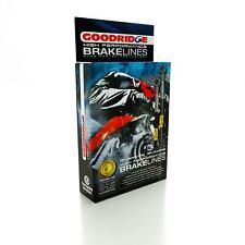 Goodridge Trenzada Std Latiguillos Frenos Delanteros para Moto Guzzi V65 Lario