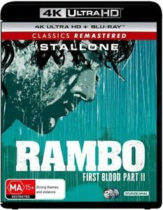 Rambo First Blood Part II 4K Ultra HD Blu-ray UHD Region B NEW