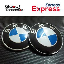 Pack Emblema Logo BMW Capo Maletero 74mm + 82mm Azul Blanco Serie 1 3 5 6