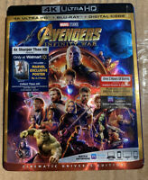 Avengers Infinity War (4K Ultra HD+Blu-ray/Digital HD)Brand-NEW- Marvel Movie