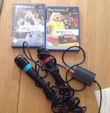 Singstar Komplett PS2 mi 2 Spielen Mikrofone Adapter
