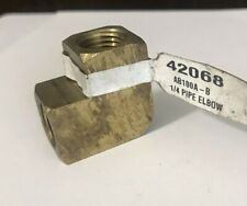 Ace #42068 Brass 1/4� Pipe Elbow Fitting- New
