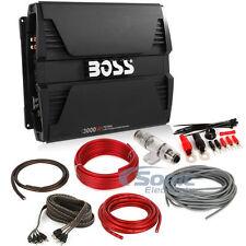 Boss PD3000 750W RMS Monoblock Phantom Series Class D Amplifier + Amp Kit