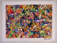 Phil Pierre - BUBBLE GUM 424 - original abstract art acrylic painting on canvas