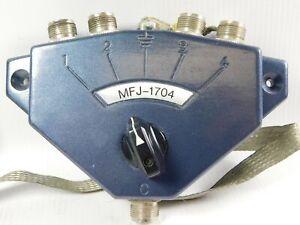 MFJ-1704 Hi-Power Antenna Switch HF/VHF/UHF Vintage Radio (clean)
