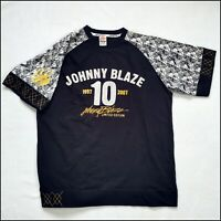 Johnny Blaze 10th Anniversary T-Shirt | Large | Black/Gold/Camo | Rare