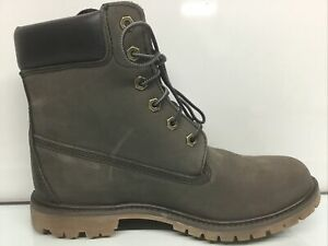 """Timberland 6"""" Premium A12lh Grey Leather Boots Women's Size 10⭐️"""