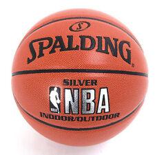 Spalding Nba Silverl Basketball Size 7 Indoor Outdoor Street Game Ball 74-556Z