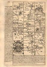 Lamberhurst-Flimwell-Newenden-Beckley-Rye road map by J. OWEN & E. BOWEN 1753