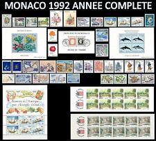 MONACO 1992 ANNEE COMPLETE Neuve** avec ses 4 Blocs & 2 Carnets, Cote:200€