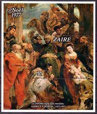 Congo-Zaire**RUBENS MADONNA NATIVITY SHEET-CHRISTMAS 1977-Cat135€-Kerstmis-Noel