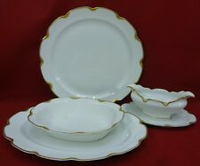 HAVILAND china Limoges France SILVER ANNIVERSARY 4-piece HOSTESS Set gravy chop+