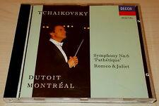 TCHAIKOVSKY-SYMPHONY NO. 6/ROMEO AND JULIET-CD 1992-DUTOIT-FULL SILVER RING