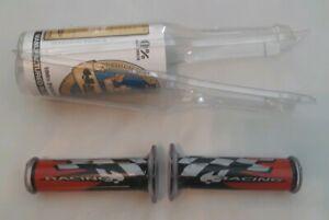 HARRI'S grips RED & BLACK >>> Ducati Honda Kawasaki Suzuki Triumph Yamaha